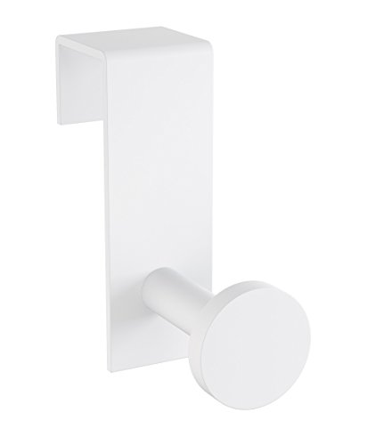 Dormic Bath Collection Tick Over the Cabinet Door Towel Robe Hook Brass Hanger for Bathroom and Kitchen (White) by Dormic Bath Collection