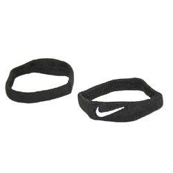 (Nike Dri Fit Bands Pair (Navy/White, Osfm))