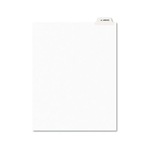 Avery 12389 Avery-Style Preprinted Legal Bottom Tab Dividers, Exhibit P, Letter (Pack of 25)