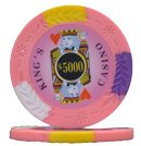 (100 $5,000 King's Casino Clay Composite 14 Gram Poker Chips)