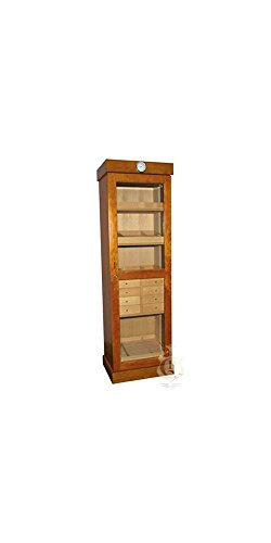 Quality Importers Humidor Tower w Removable Trays and 2 AC Outlets
