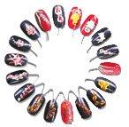 10 x NAIL ART DISPLAY & PRACTICE WHEELS Nails Tip, Natural