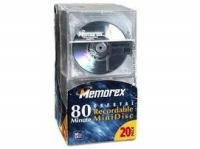 MEMOREX 1520-2200 MD80 MiniDisc - Pack of 20 by Memorex