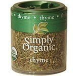 Simply Organic Thyme Leaf Whole Certified Organic, 0.28-Ounce Containers (Pack of 6) ( Value Bulk Multi-pack)