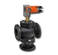 """Belimo G765D+AFBUP-X1 : 3-Way 2-1/2"""" Inch Bronze Trim Flanged Diverting Globe Valve by Belimo"""