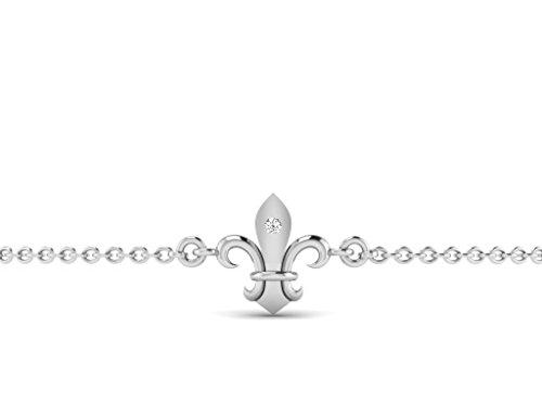 Or Blanc 18 ct Bracelet Diamant , 0.01 Ct Diamant, GH-SI, 1.52 grammes.