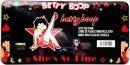 Betty Boop Rock Star Pose with She's So Fine Script and Hearts and Stars Auto Car Truck SUV Vehicle Universal-fit License Plate Frame - Plastic - SINGLE