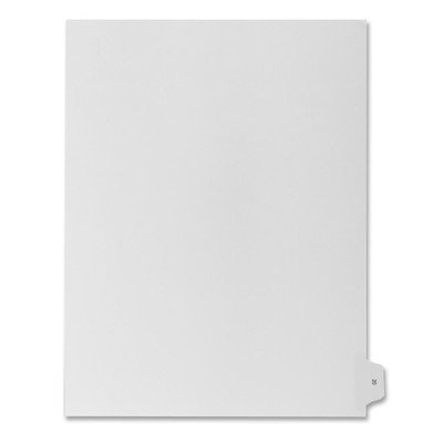 Numerical Index Dividers, Exhibit 20, Letter, 10/BX White [Set of 3]