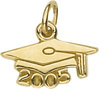 - Rembrandt Charms Graduation Cap 2005 Charm, 10K Yellow Gold