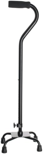 Medline Quad Cane, Small Base, Black