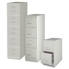 Lorell 2-Drawer Vertical File, Legal, 18 by 26-1/2 by 28-3/8-Inch, Light Gray