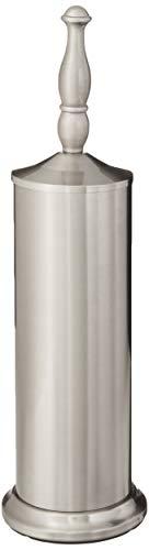 Inspired Living Set Bowl Holder Toilet Brush, Satin Nickel, Silver