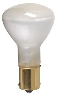 Satco S3618 R12 Shatter Proof Miniature Lamp 20 Watt BA15s Single Contact Bayonet Base ()