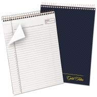 (Ampad Gold Fibre Wirebound Writing Pad w/Cover, 8 1/2 x 11 3/4, White, Navy Cover - 20-815 (Pack of 5))