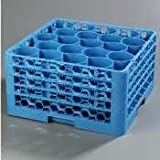 Carlisle RW20-314 OptiClean NeWave 20-Compartment Glass Rack with 4 Extenders, Carlisle Blue