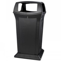 65 Gallon Ranger Container - 65 Gal Ranger With Fouropenings Black