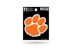 Rico Industries NCAA Clemson Tigers Die Cut Team Logo Short Sport Sticker