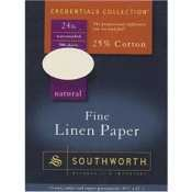 (Credentials Collection Fine Linen Paper, White, 24#, 8-1/2 x 11, 80 per Pack)