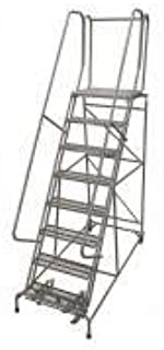 product image for Cotterman 1508R2632A6E20B4W5C1P6 - Rolling Ladder Steel 110In. H. Gray
