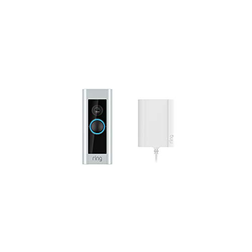 Ring Video Doorbell Pro con adaptador de enchufe, resolución HD 1080p, comunicación bidireccional, wifi, detección de…