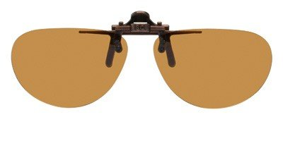 Polarized Clip-on Flip-up Plastic Sunglasses - Small Oval...