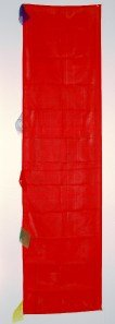 Tibetan Vertical Prayer Flags Solid Red Color