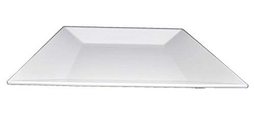 Lucy Star Melamine Square Deep Plate, White, 5-pcs per case (16