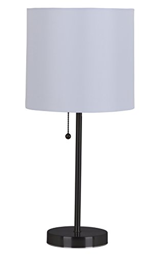 Catalina Lighting 17842-031 Jayden Stick Bedroom, table lamp, Black