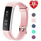 Letsfit Fitness Tracker, Slim Activity Tracker with Heart Rate Monitor, Pedometer Watch, Sleep
