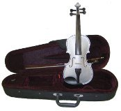 GRACE 15 inch Silver Viola with Case and Bow + Free Rosin