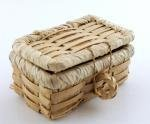 Melody Jane Dollhouse Picnic Hamper Wicker Woven Basket with Lid Miniature Accessory LT