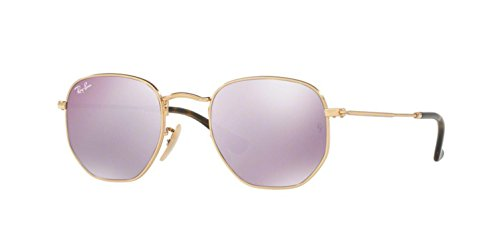 Ray-Ban Men's Metal Man Non-Polarized Iridium Square Sunglasses, Gold, 54 - Ray Ban 54mm Clubmaster