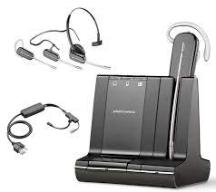 Plantronics Savi W740 Wireless Headset System with EHS Cable APP-51, Bundle for Polycom Phone Systems ()