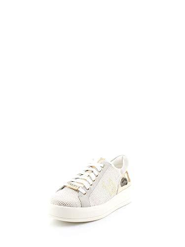 B18019t2030 2018 Nuova Jo Con Liu A Cassetta Collezione White Camoscio Strass Estate Pieni Primavera E 10602 Fdo Rose In Pelle Sneakers SHqqZE