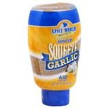 Spice World Minced Garlic, Squeezable Bottle, 9.5 Oz., (Pack of 2)