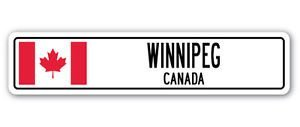 - 3 Pack: WINNIPEG, CANADA Street Sign Sticker 3