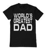 "Father's Day Black T-Shirt, ""World's Greatest Dad"" , X-Large [Apparel]"