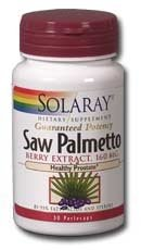 Saw Palmetto Berry Extract 160mg Solaray 60 Softgel