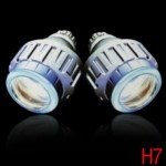 6000K White Light H7 Bi-Xenon Angel Eyes Projector Lens Light Auto HID Conversion Kit