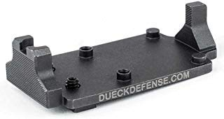 Dueck Defense RBU Glock Mount & Back Up Sight Base for Trijicon RMR