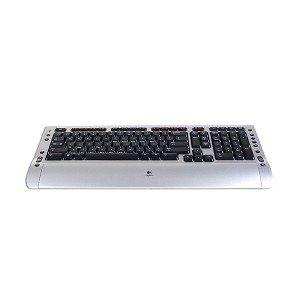 logitech wireless desktop s510 keyboard laser mouse kit black silver computers. Black Bedroom Furniture Sets. Home Design Ideas