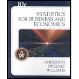 Statistics for Business and Economics, Anderson, David Ray and Sweeney, Dennis J., 0324365055