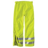 Carhartt Men's High Visibility Class E Waterproof Pant,Brite Lime,Large