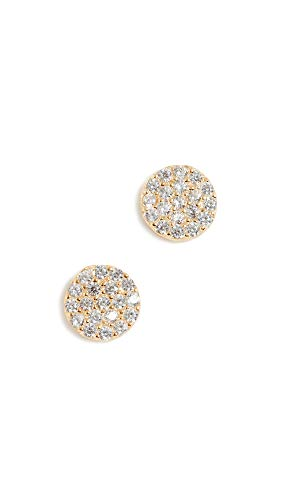 Shashi Women's Pave Disc Earrings, Gold, One Size