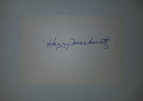 """""""Nobel Prize in Economic Science"""" Harry Markowitz Hand Signed Card Mueller COA from Unknown"""