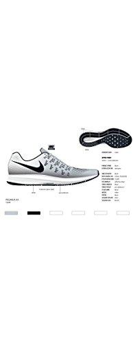 Nike Herren Air Zoom Pegasus 33 Reines Platin Schwarz Weiß 002