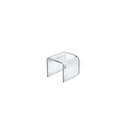 Count of 4 New Retail Clear Acrylic Riser Square Display 2.5''W x 2.5''H x 2.5''D