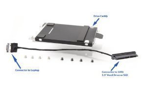 Hard Drive Caddy & Cable for HP Envy 17 -3000 series (3xxx)
