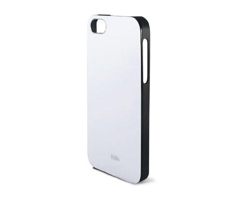 Ksix Coque solide en TPU pour iPhone 5–Blanc