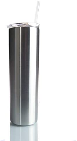 30oz Skinny Stainless Steel Tumbler Double Wall Insulated Keep Drinks Hot or Cold Tall Large Thin (1)